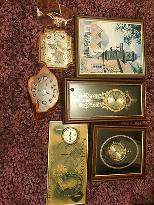 Job Lot of Picture/Steam Punk Wall Clocks as Seen  x7 including Ken Broadbent