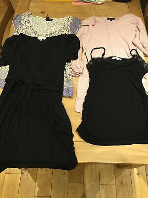 Maternity clothes size 12-14 bundle, 4 Items Tops And Dress