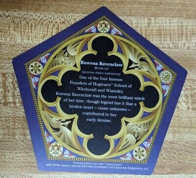Harry Potter Chocolate Frog Card Rowena Ravenclaw FIRST RELEASE DARK BACK !!