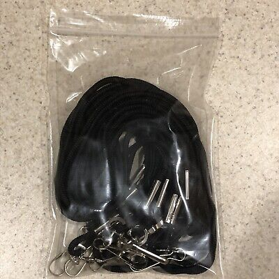 Badge Cords Black 17 Inch, 10 Pack