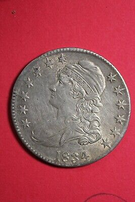 High Grade 1834 Capped Bust Half Dollar Exact Coin Shown FREE Shipping OCE 53