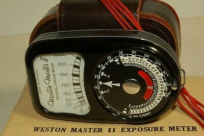 WESTON MASTER 11 LIGHT METER with CASE/STRAP INSTRUCTION VERY NICE CONDITION