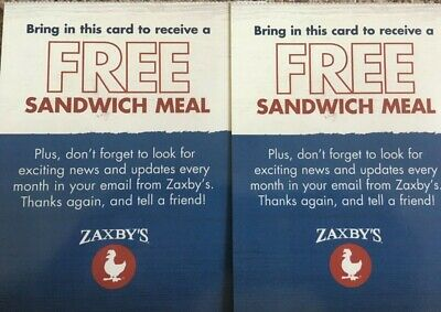 (1O) Zaxby's Sandwich Meals!!  No Exp Date!!!