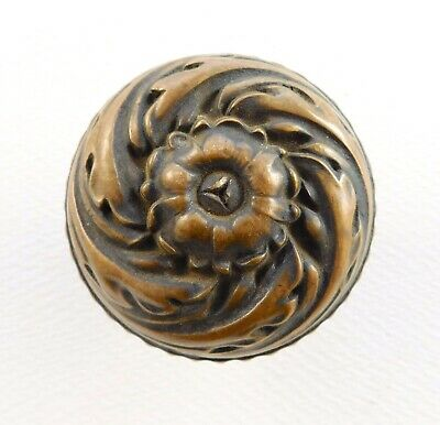 "Antique bronze / brass door knob Yale & Towne ""Urbino"" vintage ornate Victorian"
