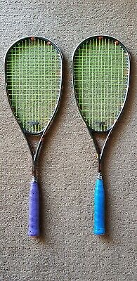 Salming Fusione Feather Aero Vectran squash racquets - a pair of for sale