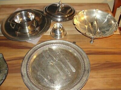 SILVER, Plates, Bowls, wares, Rogers Silver / LOT of 13 pieces