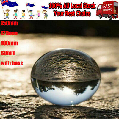 80mm - 150mm Clear Glass Crystal Healing Ball Photography Lens Ball Sphere Decor
