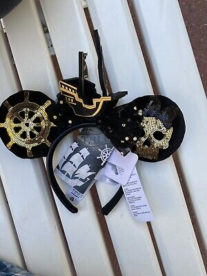 Disney Minnie Mouse Main Attraction Pirates headband ears Limited Release