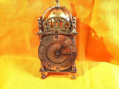 Smiths English Clocks Antique Brass 8-Day Wind-Up Mantel Clock UNTESTED