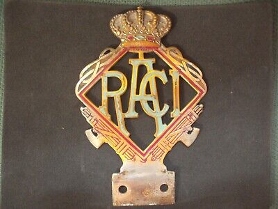 royal automobile club ITALIE 1930 badge insigne emaillé Autoplakette