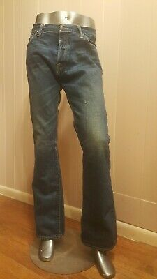 Men's Abercrombie And Fitch Baxter Low Rise Slim Boot Jeans  Size 34x32