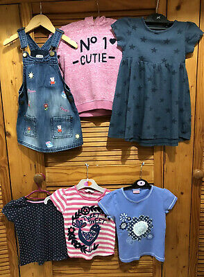 girls clothes bundle age 3-4 years😀6 Items,Peppa Pig Dress,hoody,dress & tops