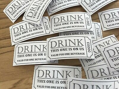 Roll of 250 Drink Vouchers/Tokens/Tickets For Weddings, Parties Or Gifts BNIP