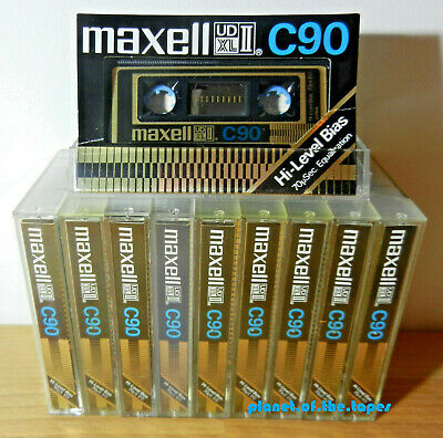 🔛 10x MAXELL UD XL II C90 * CrO2 * tapes cassettes Kassetten кассеты * 🔝