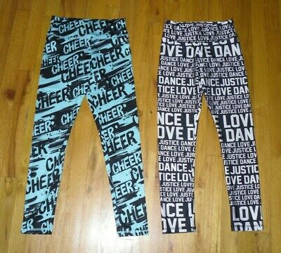 Girl's Justice Active Set of Two Cheer/Dance Leggings Stretch Pants Size 10