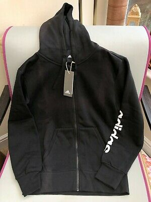 Adidas Black Zip Hoodie - New with Tags - Mens Size S - Light Fade Marks