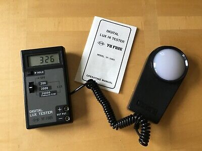 Digital Light, Lux meter in hard case. photography. Electrical,Testing. Tools.