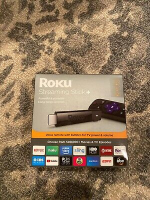 Roku Streaming Stick Plus 3810R - 4K Streaming Media Player with Voice Remote...