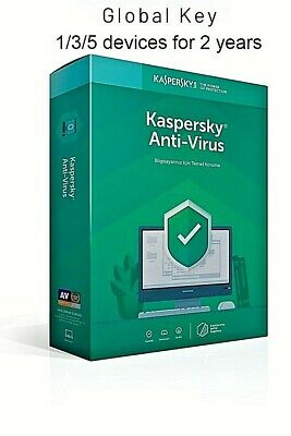 KASPERSKY ANTIVIRUS SECURITY 2020 - 2 Year 1/3/5 Device GLOBAL KEY