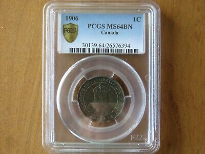 1906 Canada Large Cent Coin 1c Penny PCGS MS64 BN