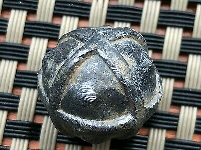 Ancient Late Roma Or Byzantine Medieval Silver Artifact Circa 400-800 Ad.