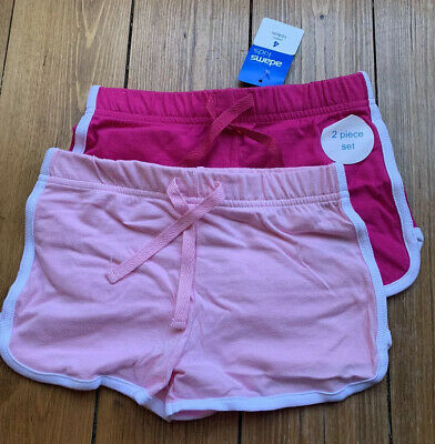 Girls Pink Shorts Age 4  Cotton 2 Pack