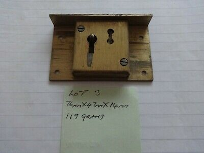 Brass Cabinet Lock Cupboard Chest Drawer  Antique. and 1 key   (lot 3 )