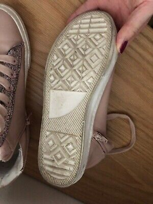 Marks and Spencers Pink Girls Hi Tops size 3 great condition