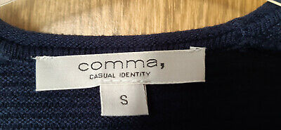 Comma Strickjacke Weste Cardigan blau Gr. S