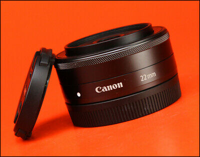 Canon EF-M 22mm F2 STM Pancake M-Mount Lens - Sold with Front & Rear Caps