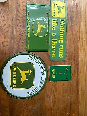 John Deere Home Decor Metal Signs