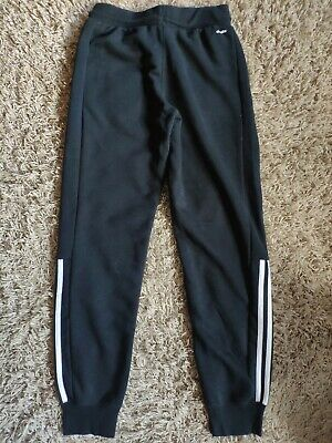 Girls' ADIDAS Black Jogging Pants, Tracksuit Bottoms,. Age 13-14, 164 cm VGC