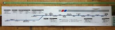 Midland City Line (Moorgate / St Pancras to Bedford) train route map poster