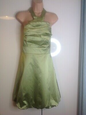 Karen Millen Occasion Dress Size 14 Green Prom Party Wedding Races