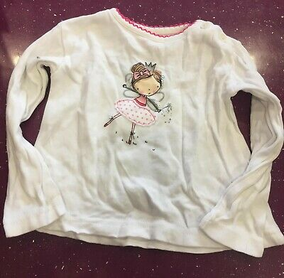 Primark White with Fairy Baby Long Sleeved T-shirt - 12-18 Months