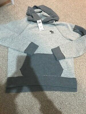 abercrombie and fitch A&F Boys Jumper Hoody Grey Age 11-12 New With Tags