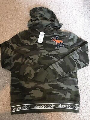 abercrombie and fitch A&F Boys Hoody Camo Jumper Big Moose Age 11-12 New