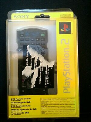 SONY PS2 DVD Remote Control SEALED Official Genuine Playstation Black