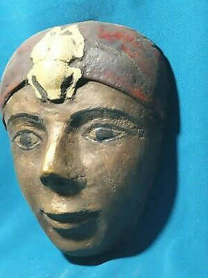 The faces of ancient Egypt civilization of the Nile Valley.. wood. 1