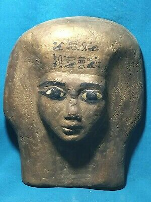 The faces of ancient Egypt civilization of the Nile Valley..  wood. 2