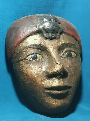 The faces of ancient Egypt civilization of the Nile Valley.. wood.  4