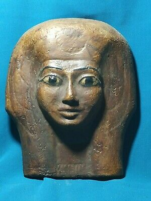 The faces of ancient Egypt civilization of the Nile Valley.. wood .5