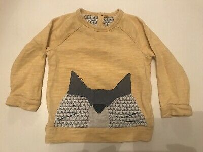 Next Jumper 2-3 Years Unisex Boy Girl Fox Yellow