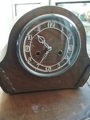 ENFIELD STRIKING MANTLE CLOCK  with 2 new mainsprings fitted