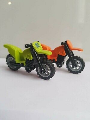 Sport Bike City Minifigure Motorbike Lego Grey Dirt Bike Motorcycle