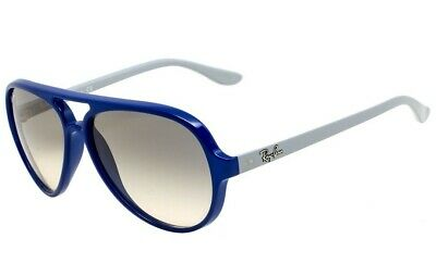 Genuine Ray Ban RB4125 CATS5000 801/32 Aviator Sunglasses Blue & Grey