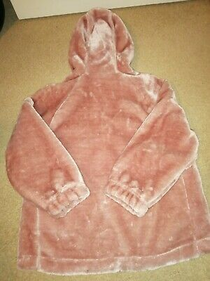 Ted Baker Girls Pink  Faux Fur Jacket 9-10 years New
