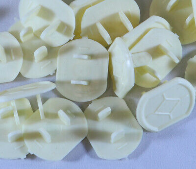 Ivory Electrical Outlet Plug Safety Caps Covers, Child / Baby Proof, 60 Pack