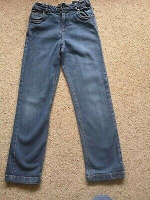 VGC Joules boys Jnr Ted blue denim slim leg jeans, 8 yrs