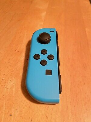 Nintendo Switch Neon Blue Left Joy Con + Wrist Strap! Authentic OEM Controller